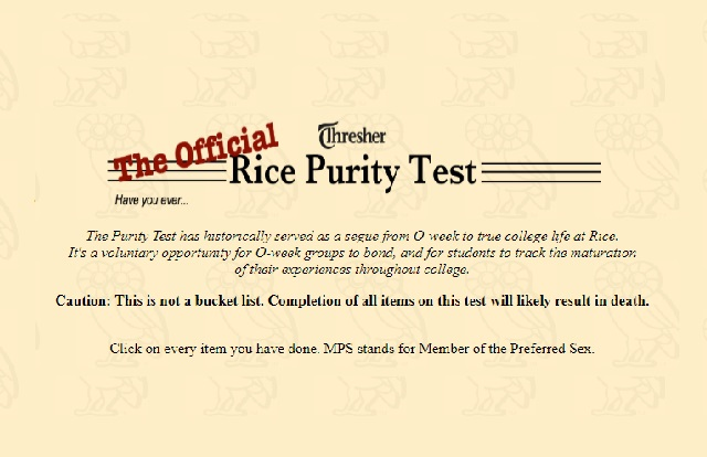 Rice Purity Test Including Its Importance